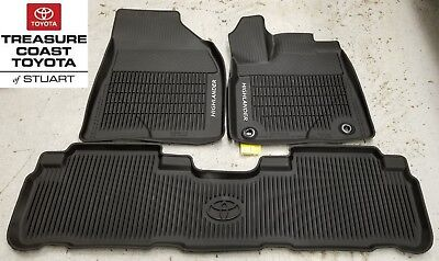 New Oem Toyota Highlander 2014-2019 & Up All Weather Floor Liner 3-Pc Set
