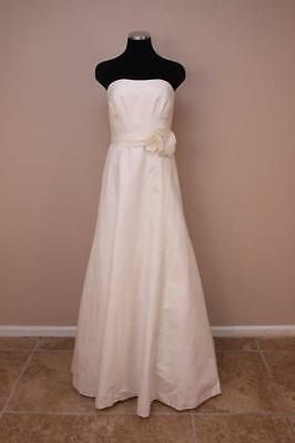 J Crew $1400 Miranda Flower Gown 8 Ivory Wedding formal bride long dress cotton