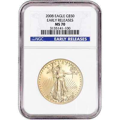 2008 American Gold Eagle 1 oz $50 - NGC MS70 - Early Releases