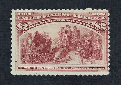 CKSTAMPS: US STAMPS Scott#242 $2 Columbian Unused NG Tape on Back, Light  Crease