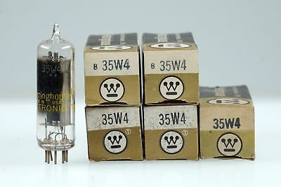 5 Vintage Westinghouse 35W4 / HY90 Half Wave Rectifier Mini 7 Pin Tube Valve - B