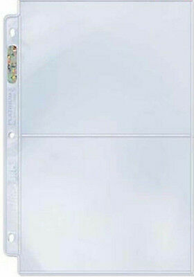 ULTRA PRO QUALITY 2 Pocket PLATINUM PAGES POSTCARDS PHOTOGRAPHS Pack of 10