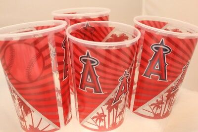 Anaheim Angels Stadium Issued Baseball Cups Red and White Lot of 2 Mike Trout