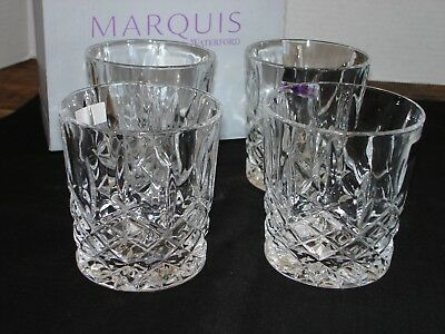 Set of 4 Marquis by Waterford Markham Double Old Fashioned Glasses 165118.