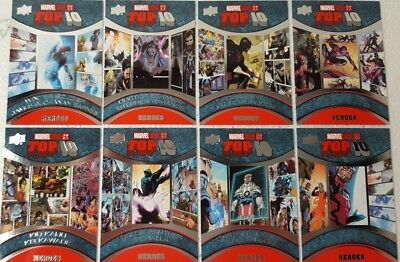2017 Upper Deck Marvel Annual Trading Card Set  TOP 10 HEROES TH 1 - 10
