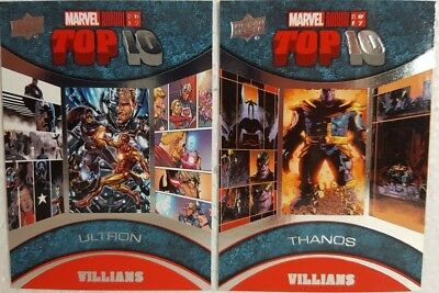 2017 Upper Deck Marvel Annual Trading Card Set  TOP 10 VILLANS TV 1 - 10