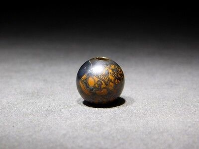 SUPERB RARE Mokume-gane OJIME NETSUKE 19thC Japanese Edo Meiji Antique for INRO