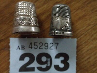 Antique Silver Thimble X 2  Inc.charles Horner