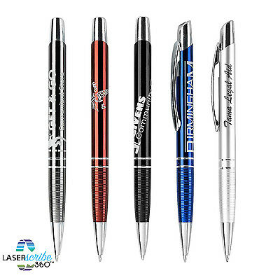 100 Metal Laser Engraved Pens Personalized Promotion Marketing Giveaway Drumwork