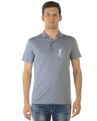 7c47ef25b Yves Saint Laurent Polo Shirt Cotton MADE IN ITALY Man Grey MN4262986 4277  NWT