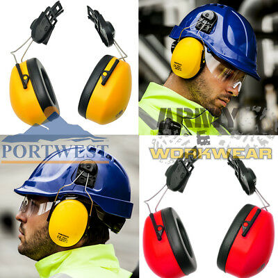 Red Regular Portwest PW42RER Series PW42 Clip-On Ear Protector