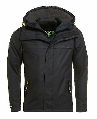 New Mens Superdry Unique Sample Double Atlantic Jacket Size Large Navy
