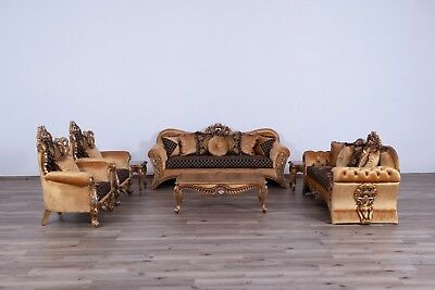 3 Pieces Sirena Victorian Luxury Sofa Set