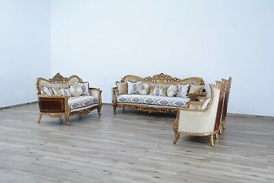 3 Pieces Giselle Victorian Luxury Sofa Set