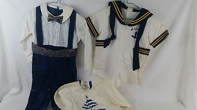 4 Piece Lot Vintage toddler Boy Clothes 24M and 2t