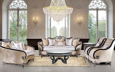3 Pieces Frida VIctorian Luxury Sofa Set