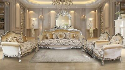 3 Pieces Bali Victorian Luxury Sofa Set