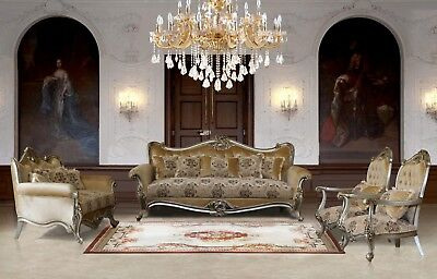 3 Pieces Camilla Victorian Luxury Sofa Set