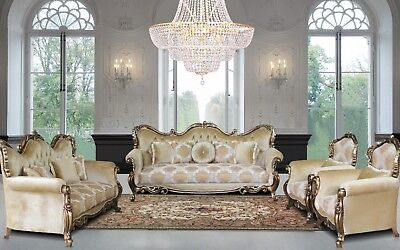 3 Pieces George VIctorian Luxury Sofa Set