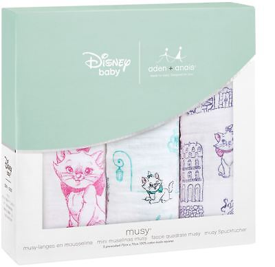 aden + anais DISNEY CLASSIC MUSY 3 PACK ARTISTOCATS Baby Feeding Bibs BN