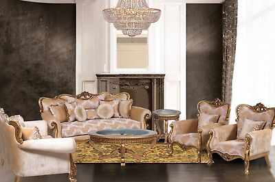 3 Pieces Diletta Victorian Luxury Sofa Set