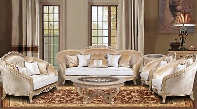 3 Pieces Natalia Victorian Masterpiece Sofa Set