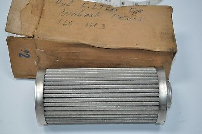 NOS Doms Hydraulic Metal Filter for Wabash Press Part# 160-0003 - Doms# 22211