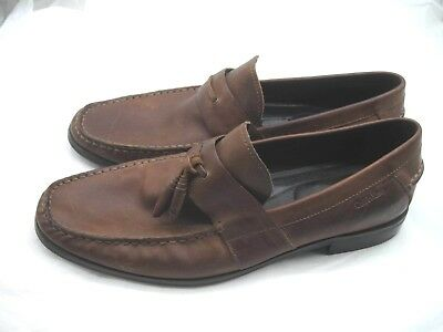 Calvin Klein brown suede loafers Mens slip on casual dress shoes sz 11M 44  F0103 2385e259324