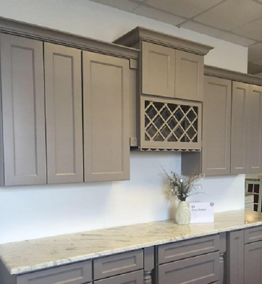 GRAY SHAKER KITCHEN Cabinets 14foot run or custom fit RTA ...
