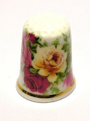 Fingerhut Thimble - I love sewing - bunte Rosen