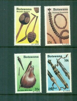 Botswana 1983 Traditional Artifacts Ox bag Knives  MNH SG 545-548