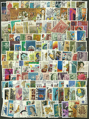 Collection Packet of 300 Different AUSTRALIAN Stamps mostly USED condition