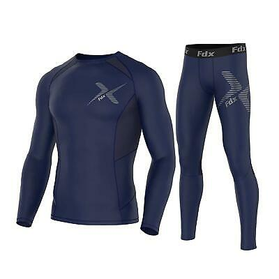 FDX Homme ProCouche base UnderGear Compression Manches Longues & Leggings