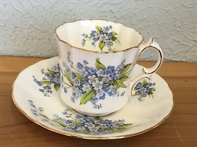 Hammersley Victorian Forget Me Nots Cup and Saucer Bone China, England