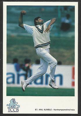 ANIL KUMBLE -- NORTHAMPTONSHIRE &  INDIA. OFFICIAL TCCB  POSTCARD No. 67