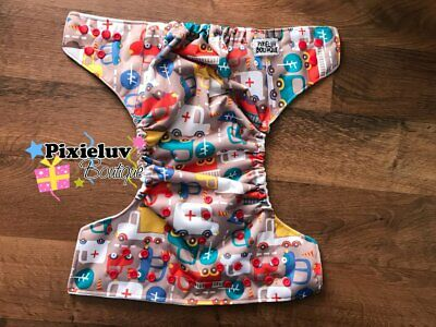 City Traffic Jam One Size Pocket Cloth Diaper