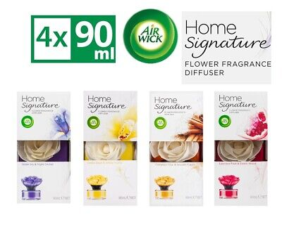 4 x Airwick Signature Flower Fragrance Diffuser Assorted Flavors