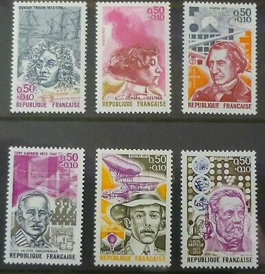 FRANCE 1973 Red Cross Fund set of 6 Celebrities MINT never hinged SG 1989 - 1995