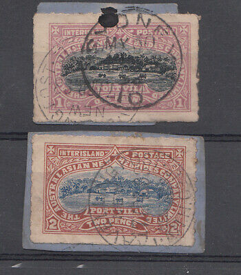 Cinderella Local Issue  Australasian New Hebrides Co 1penny & 2 pence used