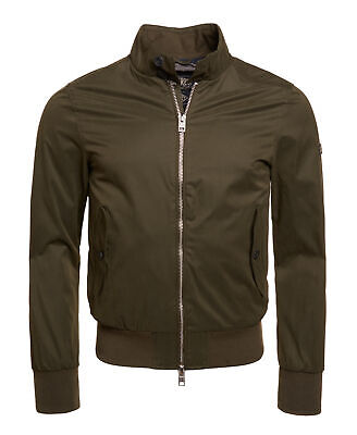 New Mens Superdry Unique Sample Nordic Harrington Jacket Size Small Khaki