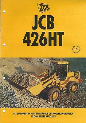 Equipment Brochure - JCB - 426HT Wheel Loader - c1995 - FRENCH language (E4990)