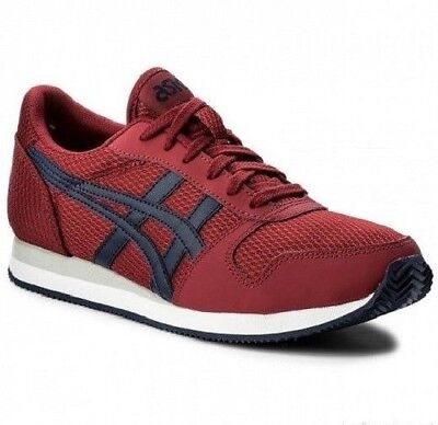 Mens asics Curreo Trainers Sneakers Shoes Size UK 6.5 Sneaks Red Fashion Casual
