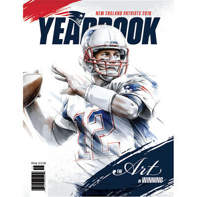 2018 New England Patriots Yearbook Tom Brady Cover Gronkowski Super Bowl Read Ad