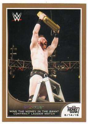 2016 Topps WWE Road to Wrestlemania Bronze Parallel #44 Sheamus