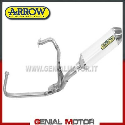Komplett Auspuff Arrow Race Tech Aluminium Weiss Gilera Gp 800 2008 08