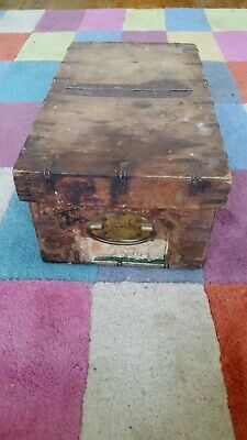 Small Victorian / Edwardian Ply Storage Box Display