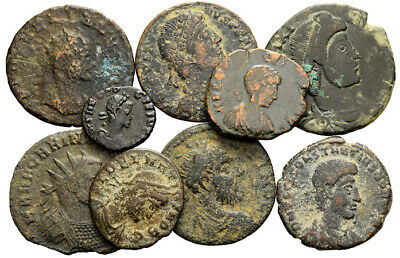 FORVM Roman Empire Bronze Lot of 9 Coins Includes Scarcer Rulers