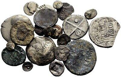 FORVM Lot of 20 Greek Silver Drachms and Fractions