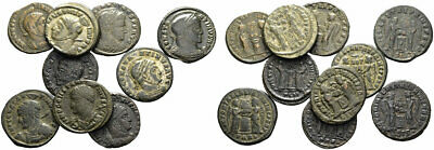 FORVM Lot of 10 NICE Constantine the Great Billon Centenionalis Helmeted Busts