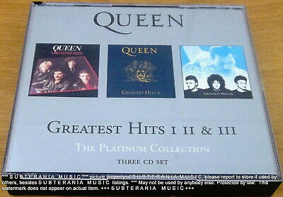 QUEEN Greatest Hits I II III The Platinum Collection 3CD SOUTH AFRICA